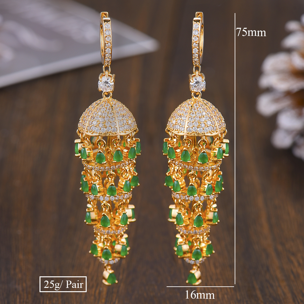 Image 5 - GODKI Luxury Trendy Long Tassel Rain Drop Dangle Earrings for 