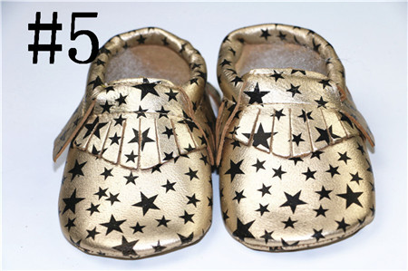 wolesale 50pieces/lot spring Genuine goatskin baby boys girls shoes First Walkers anti-drop fringe moccasins for new born babies