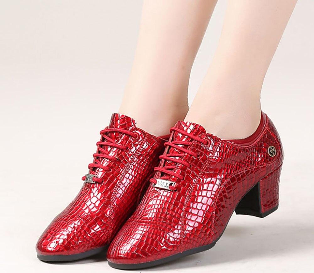 Cuero De rojo Adulto Suave Madre Latina Negocios Cuadrado Fondo Zapatos Negro Profesor Casuales Actividad Mujer 0nYdd6Up