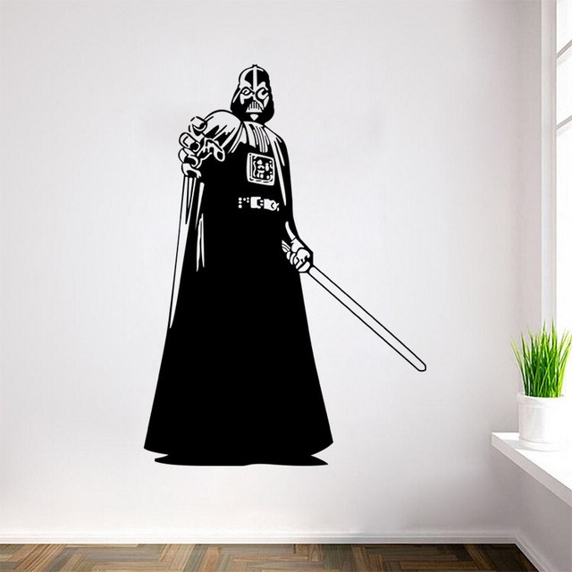 Free shipping star wars stormtrooper darth vader vinyl art wall decal wall mural for home decoration