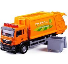 все цены на 1:64 alloy garbage truck children's toy car high simulation engineering health model toys, free shipping онлайн