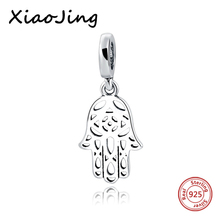 hot deal buy new 925 sterling silver palm charms beads fit original european charm bracelet beads diy jewelry making for women gifts
