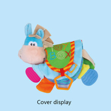Baby rattles cute Little Donkey animal cloth book teether multi-function recognition for toddlers learning early education toys