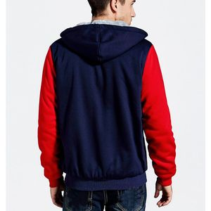 Image 2 - ผู้ชายขนาดใหญ่เสื้อ7XL 8XL 9XL 10XLฤดูใบไม้ร่วงและฤดูหนาวแขนยาวซิปหนาขนแกะสีฟ้าสีแดงMatc