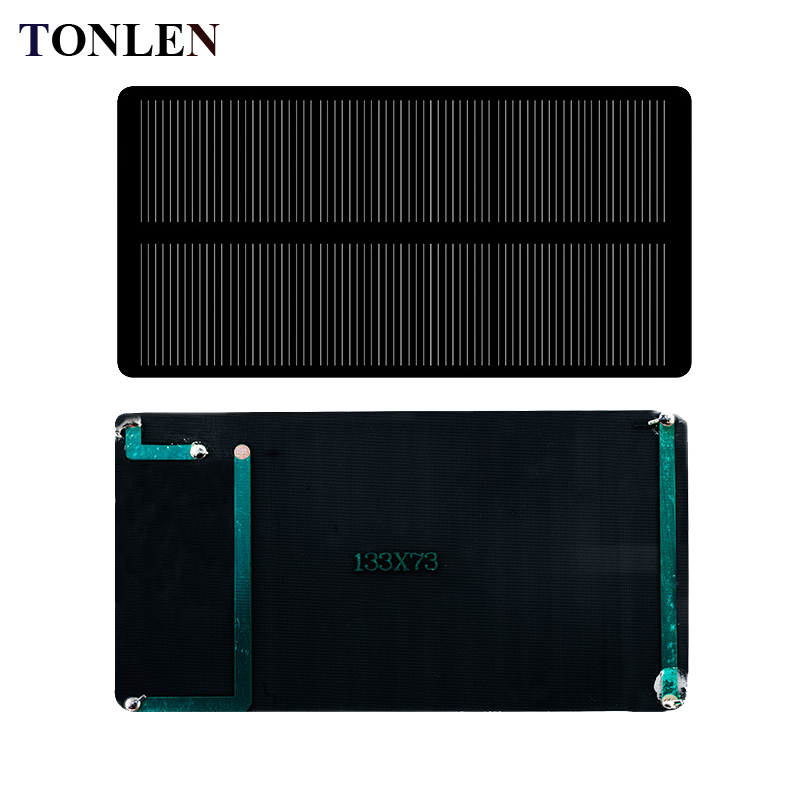 TONLEN 2pcs Solar Panel 6V 180mA Sunpower 133mm*73mm Solar Cell DIY Solar Panel Mobile Phone Charger Kits Module Solar Panel