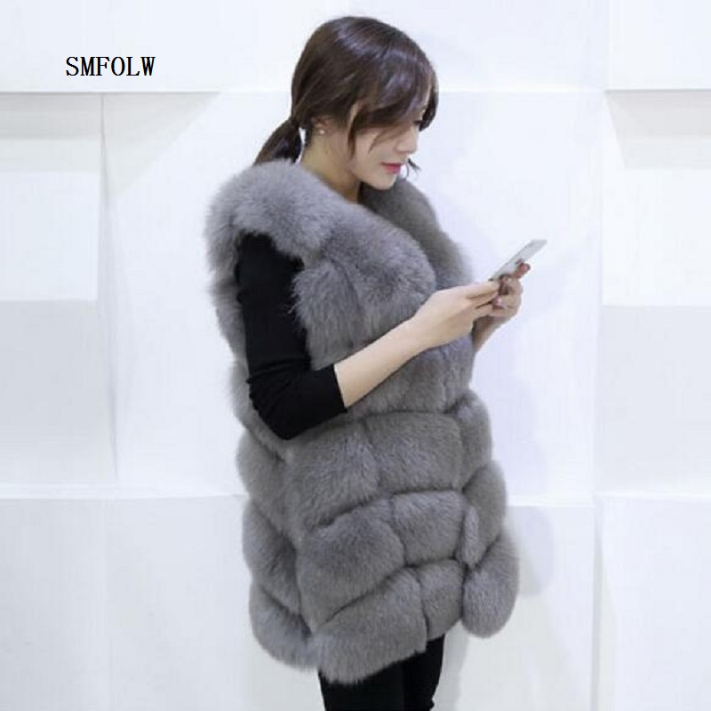 Can be customized Plus Size S XL Winter Coat Women Fox Fur