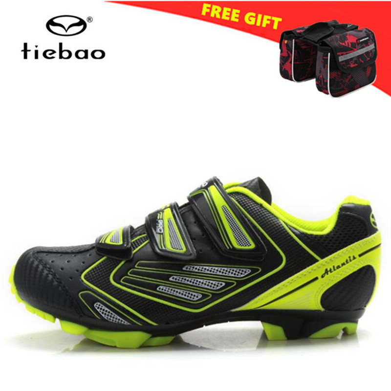 TIEBAO Outdoor mountain Bike Shoes Triathlon Bicycle Shoes Sapatilha Ciclismo Breathable Cycling Shoes Athletic Racing Sneakers colour block breathable athletic shoes