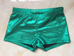 Commercio all'ingrosso Custom Made Elastico Metallico Verde Booty Shorts Donne Sportwear Push Up Shorts Supporto Personalizzato con Logo MOQ100
