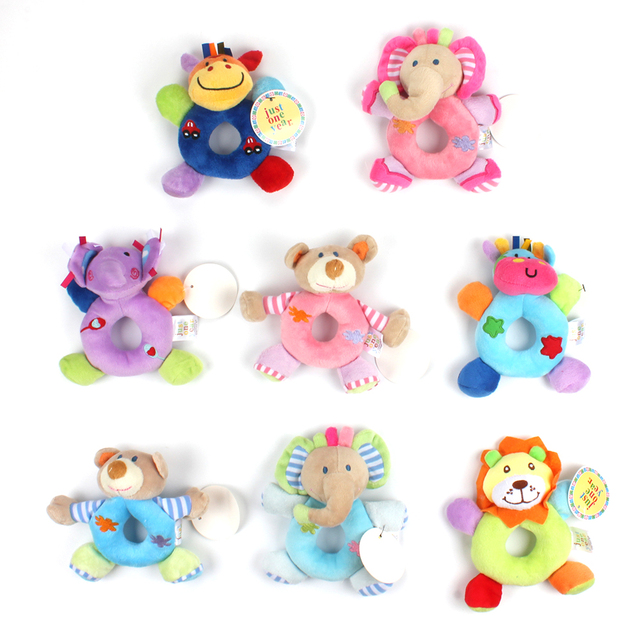 baby cute cartoon animal plush rattles toy soft mobiles handbells newborn toddlers grasp training toys ring - Animal Pictures For Toddlers