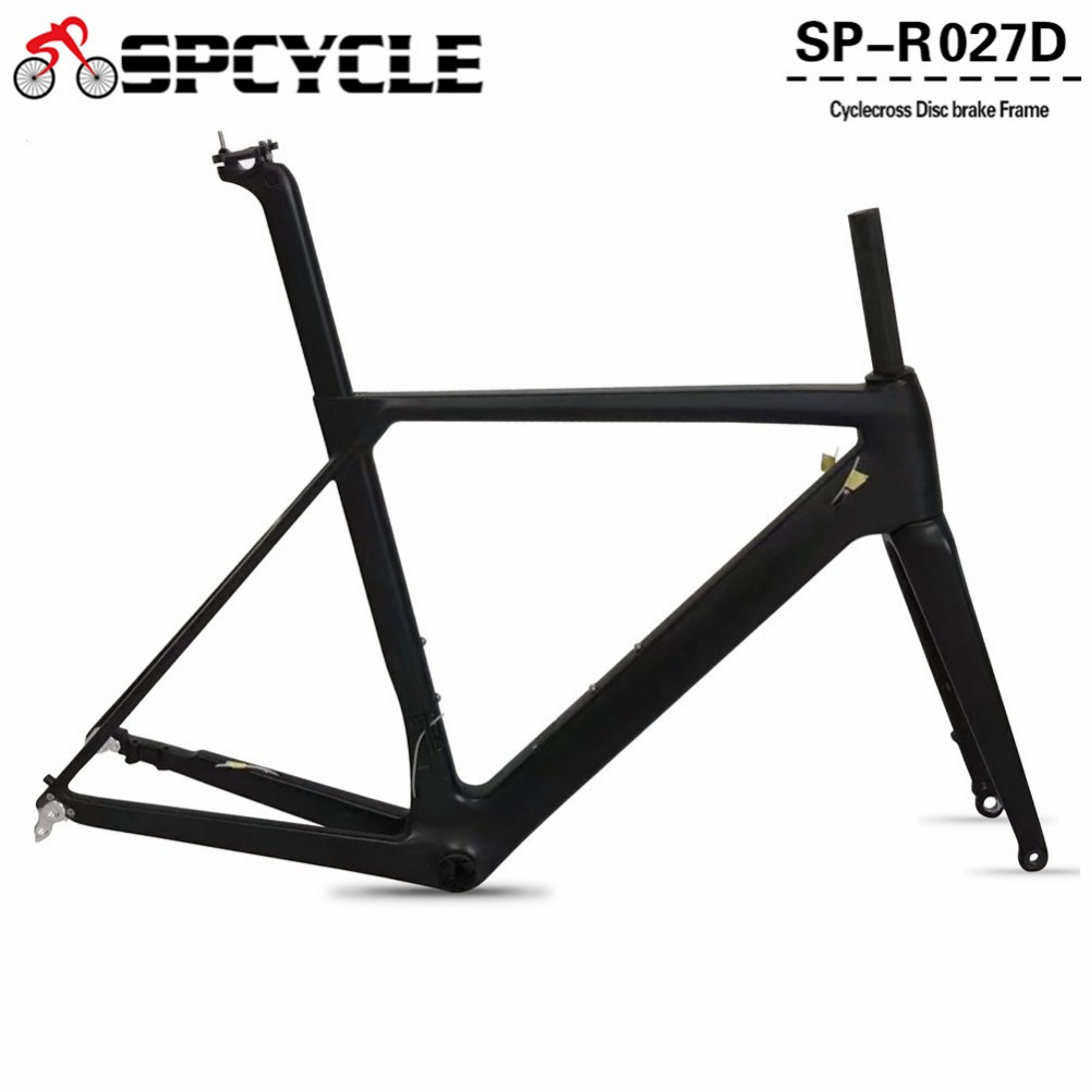 Spcycle 2018 NEW Disc brake Carbon Road Bike Frame UD Black Aero Full Carbon Road Bicycle Frame 142*12mm Thru Axle Frameset 2017 flat mount disc carbon road frames carbon frameset bb86 bsa frame thru axle front and rear dual purpose carbon frame