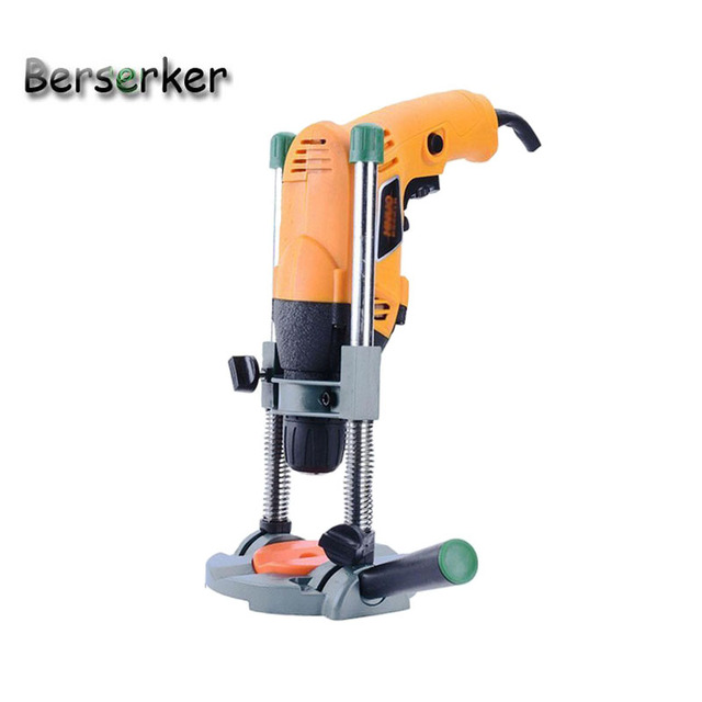 Berserker Drill Guide stand drill Holder stand for electric drill Angle   adjustable movable Handle Free Shipping