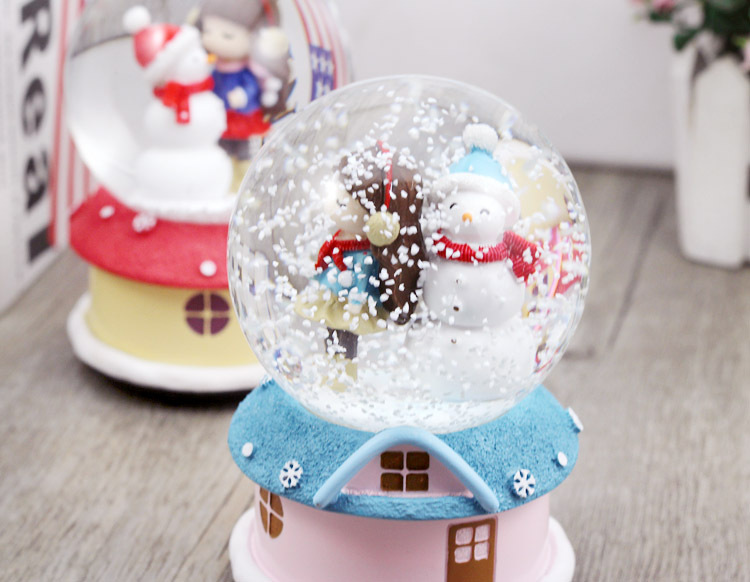 Christmas crystal ball music box creative fashion home for Sia home fashion christmas decorations