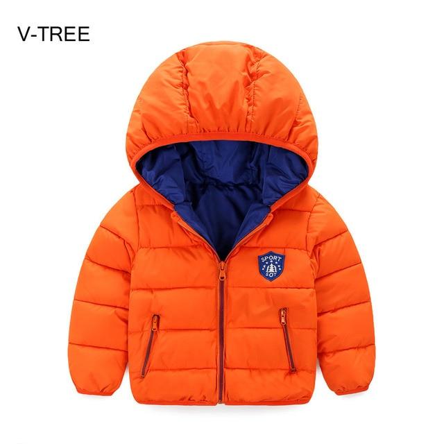 Детская зима новый ребенок пуховик пальто Хлопка короткий параграф для детей мальчики девочки Зимний пиджаки для babys