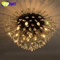 Фумат Павлин Кристалл K9 потолочный светильник блеск творчески Американский Стиль дизайнер светодиодный свет фойе исследование Ванная ком