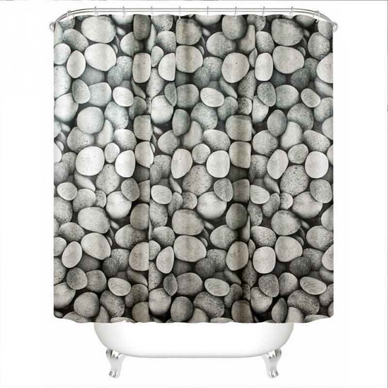 Kiesel-Muster-Familien-Badezimmer-Duschvorhang-einfacher Ring-Zug des - Haushaltswaren - Foto 1