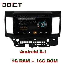 IDOICT Android 8.1 Car DVD Player GPS Navigation Multimedia For Mitsubishi LANCER Radio 2010-2016 car stereo