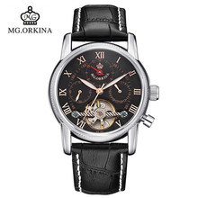 2016 Real Man Watch Blackcat Orkina For Automatic Mechanical Strap Watches Fashion Casual Analog Water Resistant