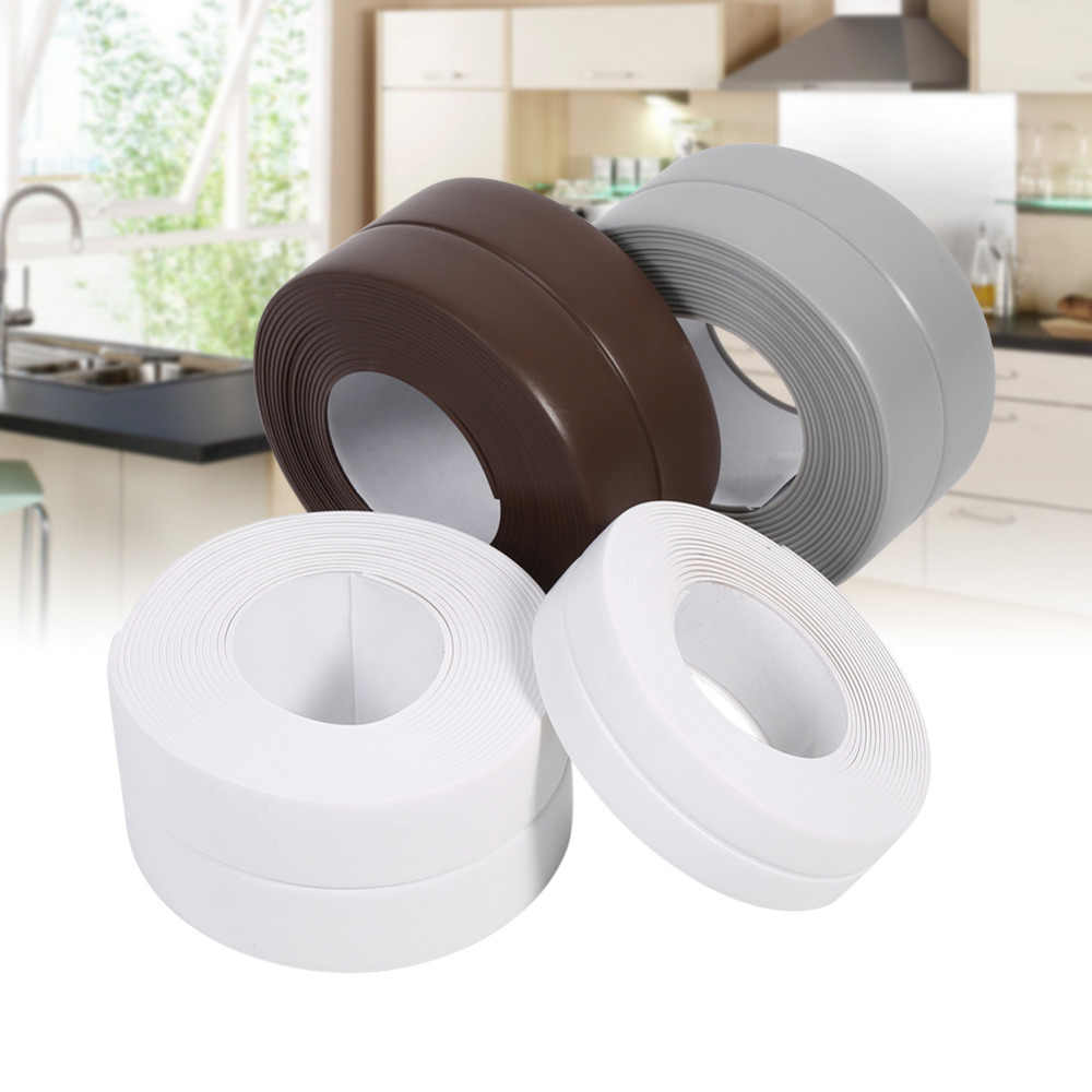 3 Colors 3.2M Length Self Adhesive Bath And Wall Sealing Strip Sink Basin Edge Trim Kitchen New