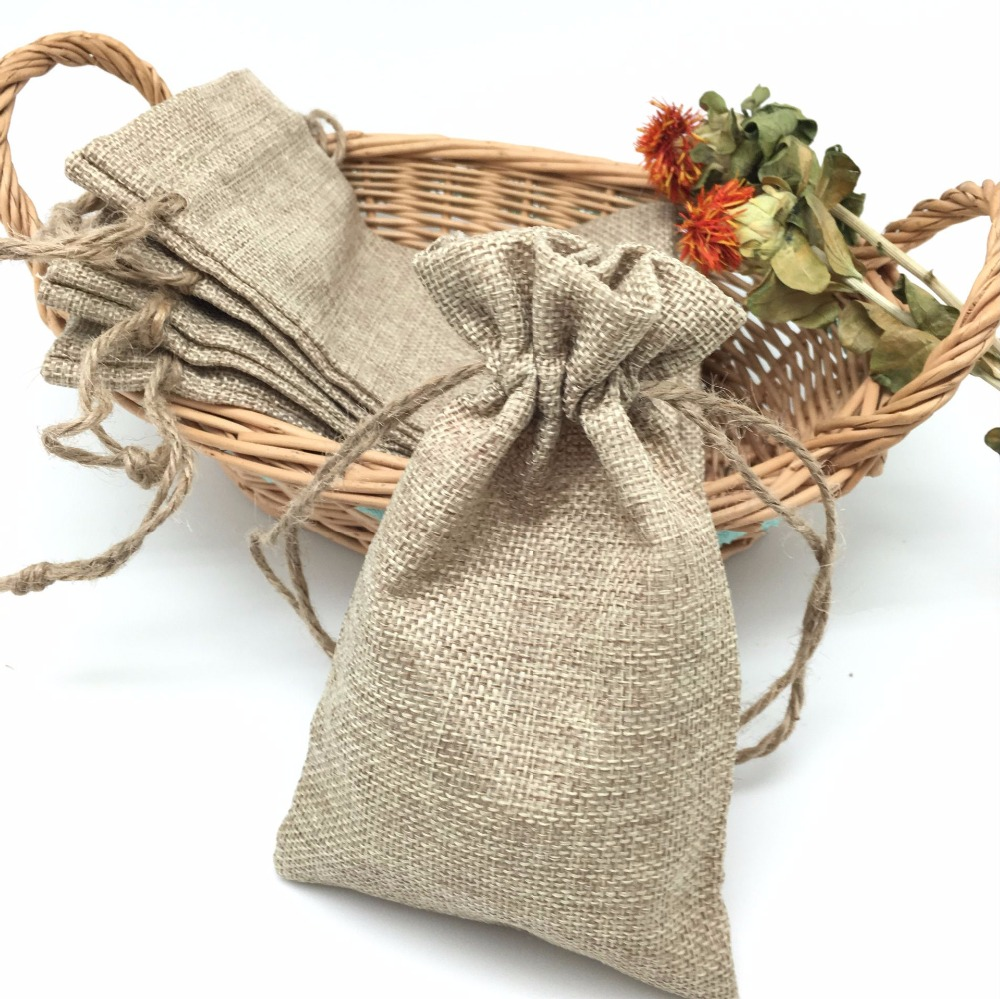 5 Pieces Antik Kain Goni Jute Sacks Pernikahan Pesta Kebaikan Drawstrings Hadiah  Tas Pembungkus AA8084 di Persediaan hadiah Tas   Pembungkus dari Rumah ... cb5fbc88ba