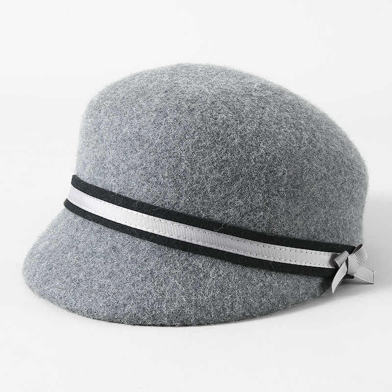 7e8196ff040 ... 2018 Wool Hats Woman Autumn And Winter Party Formal Hats England Lady  All-match Equestrian ...