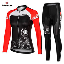 Bike Uniform Bicycle Clothes maillot Ropa ciclismo for Woman Cyclist Mieyco Long Sleeve Cycling Clothing Jersey Set Women