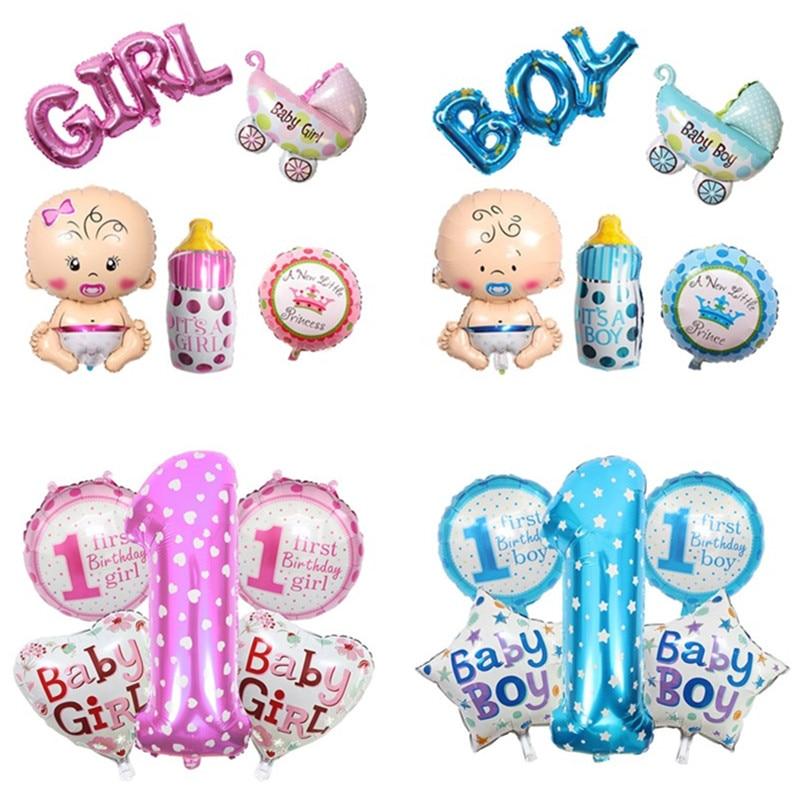 US $0 46 30% OFF|Children Happy Birthday Letter Balloons Helium Balloon Air  1st Birthday Party Decorations Kids Boy Ballon BabyShower Supplies-in