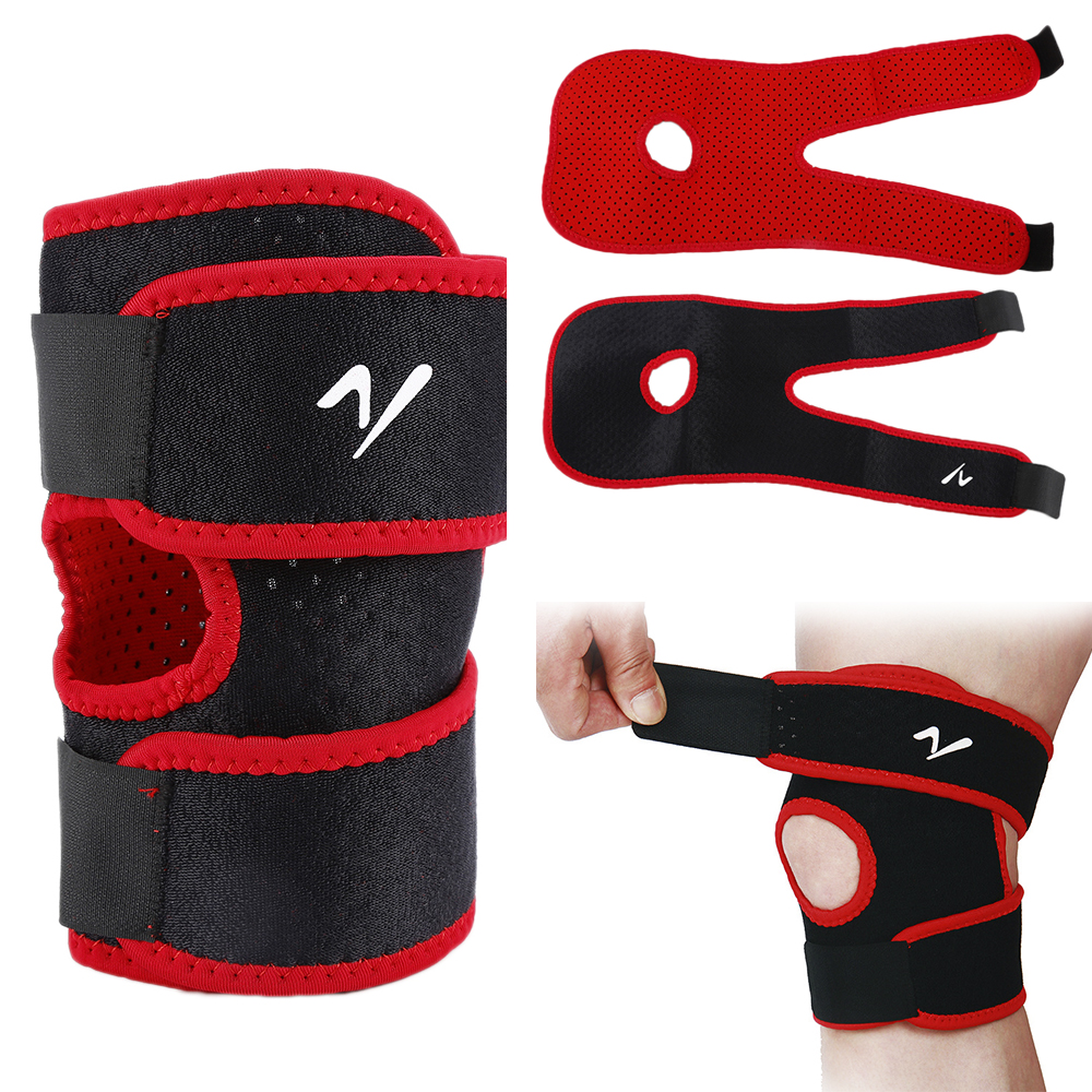 Ourpgone Adjustable Elastic Knee Support Brace Kneepad Patella Knee Pads Hole Sports Kneepad Safety Guard Strap For Running
