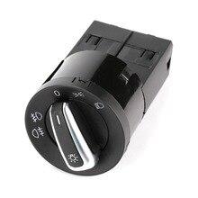 Chrome Управление Туман Глава свет лампы Переключатель для VW Jetta Golf Beetle PASSAT New Beetle Sharan поло Lupo 3BD 941 531