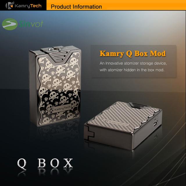 2 unids/lote el q caja kamry e cig kamry mod 600 mah más caliente durante 0.3-9.9 ohms 3.3-4.2 v vaporizador de gama alta aleación de zinc