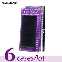 NAGARAKU, все размеры, 6 чехлов, J, B, C, D, накладные ресницы из искусственной норки, искусственные, ненастоящие, поддельные ресницы