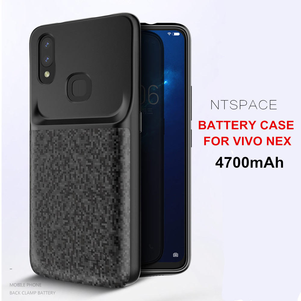 NTSPACE Backup Power Bank Charger Cover for VIVO NEX Battery Case 4700mAh Ultra Slim Shockproof Back Clip Charging Cases