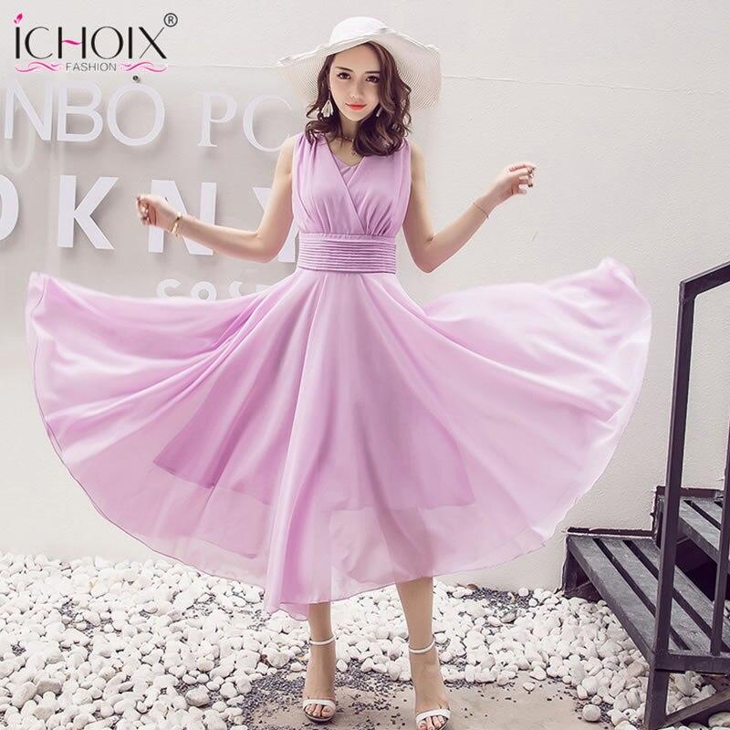 d6d3287dd75f S-4XL 5XL Maxi Vestidos Chiffon 2019 V pescoço Vestido de Verão Mulheres  tamanho Grande vestidos de Festa Elegante Longo Vestido Plus Size 11 cor