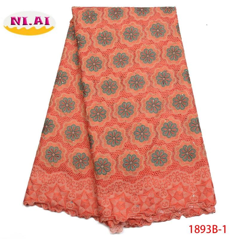 Nigerian Lace fabrics 2018 Peach African Swiss Voile Lace High Quality Swiss Voile Lace in Switzerland