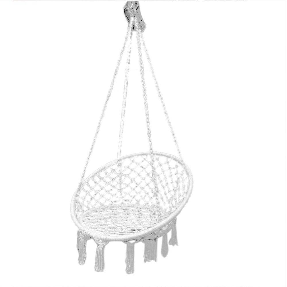 Round Net Hammock Outdoor Indoor Dormitory Bedroom Swing Bed Adult Swing Chair Single Person Hanging Hammock цена