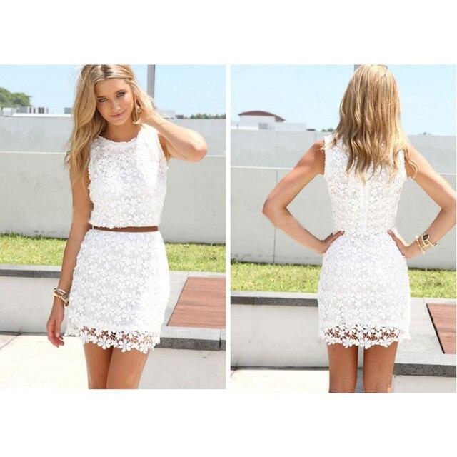 2c0c6b6d747 2016 Новые Моды для Женщин Лето Стиль Sexy Кружева Платье Партии Красивые Белые  Платья оптом