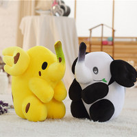 1pc 50m Cute Plush Banana Elephant Panda Elephant Toys Stuffed Soft Elephant Pillow Toys Creative Plush Animals Toys Kids Gifts