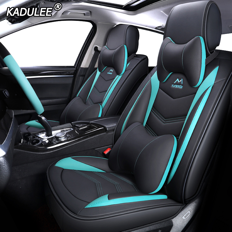 KADULEE Leather car seat covers for dacia duster dokker daewoo lanos matiz nexia Automobiles Seat Cover