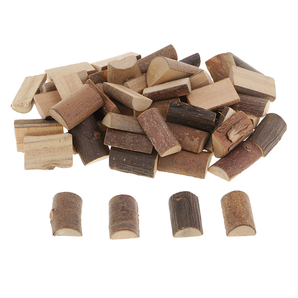 50 Pieces Rustic Half Cut Wood Log Slices For Wedding Centerpieces Decor