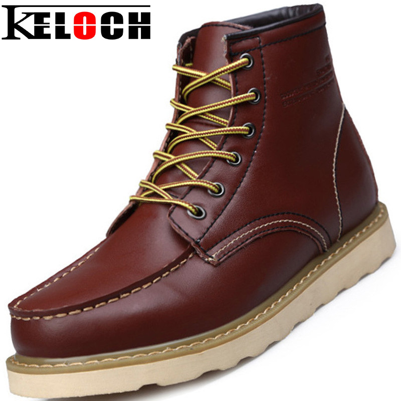 Winter Boots Men Shoes Work Genuine Leather Winter Warm Quality Work Boots Chaussure Homme