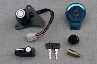 Scooter Key Ignition Switch Set Lock Fuel Gas Cap For Yamaha XV125 XV250 Virago 535