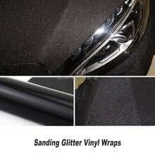 Sparkle Sanding black Glitter Vinyl Car Wrap Film With Air Release Auto Dianond Foil Hot sales Korean Japan Southeast Asia
