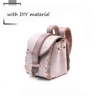 Сумка ручной работы diy Материал креативная мини-сумка полуфабрикатная натуральная кожа настоящая кожа DIY посылка