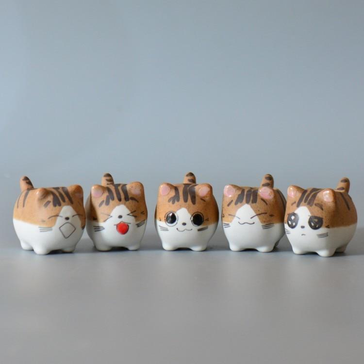Cat Чи Sweet Home Керамика горшки микро-милый мини горшках суккуленты небольшие цветочные горшки Карликовые деревья Творческий мультфильм кашпо дома