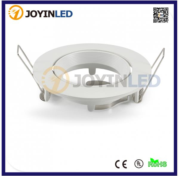 Free shippping Newly hot sale led ceiling light frame fixture holders Frost  white gu10 fittings for