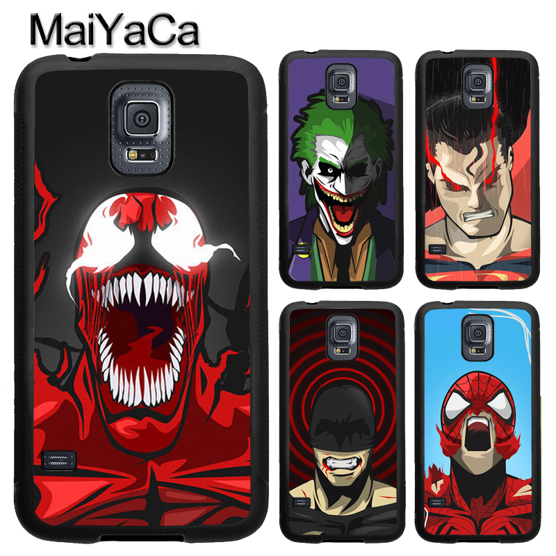 MaiYaCa Marvel DC Avenger Villain Hero Phone Case For Samsung Galaxy S9 S8 Plus S4 S5 S6 S7 edge Note 8 5 4 TPU Cover Skin Shell