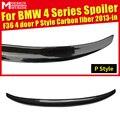 Для BMW F36 4-дверный 420i 428i 430i 435i 440i P-Style спойлер заднего багажника из углеродного волокна задний крыло автомобиля Стайлинг Аксессуары 2013-2018
