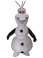 Smiling Frozen Olaf Mascot Costume Cartoon Character Costume Free Shipping