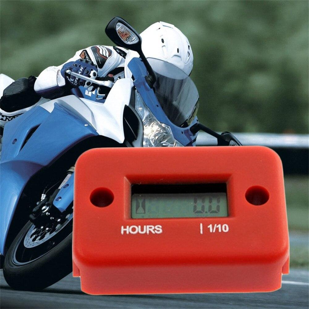 Inductive Digital Hour Meter Waterproof LCD Display for Bike Motorcycle Styling ATV Snowmobile Marine Boat Ski Dirt Gas Engine
