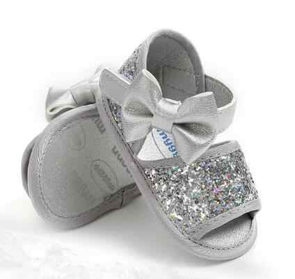 9e5b516803285 Sequins baby girls sandals soft sole baby summer shoes 2019 New style baby  party shoes bling cute bow baby sandals