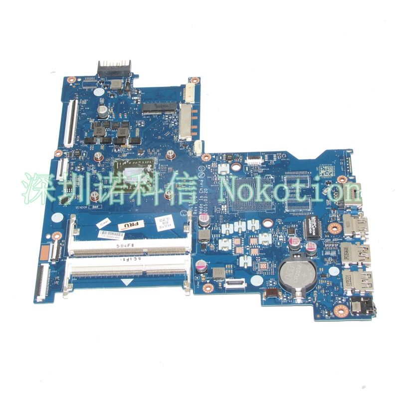 NOKOTION Original ABL51 LA-C781P Laptop motherboard for HP 15-AF EM2500 CPU 818059-601 818059-601 Mainboard full test WORKS nokotion 809986 601 809986 001 laptop motherboard for hp pavilion 17 p day21amb6d0 a10 7050m cpu ddr3 mainboard full works